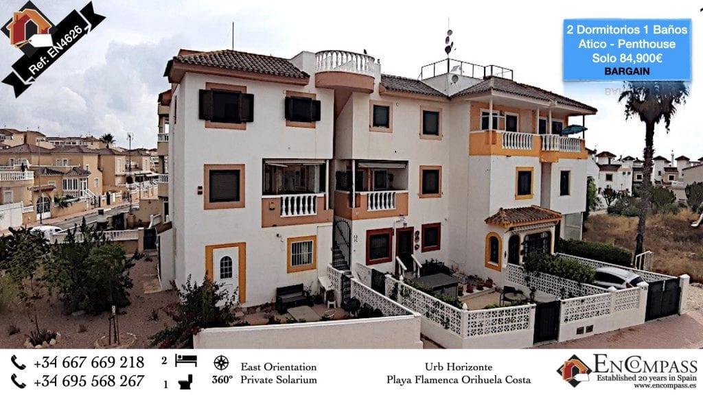 Playa Flamenca Orihuela Costa Urb Horizonte Top Floor Penthouse Apartment flat for sale